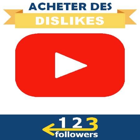 Acheter des Dislikes Youtube