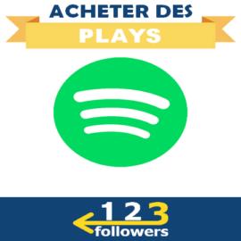 Acheter des Plays Spotify