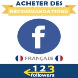 Acheter des Recommandations pour Page Facebook