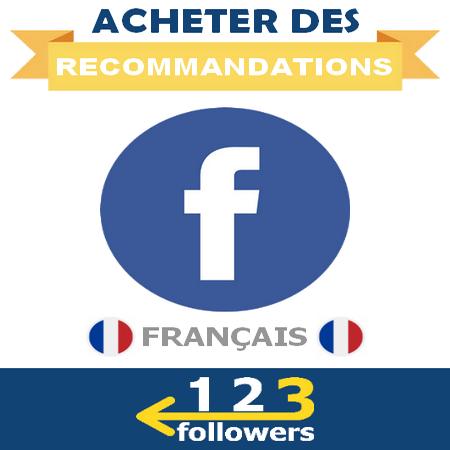 Acheter des Recommandations de Page Facebook