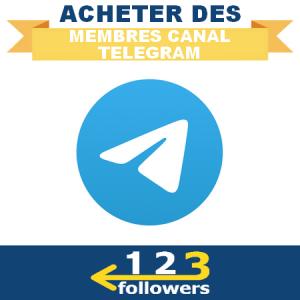 Acheter des Membres pour Canal Telegram
