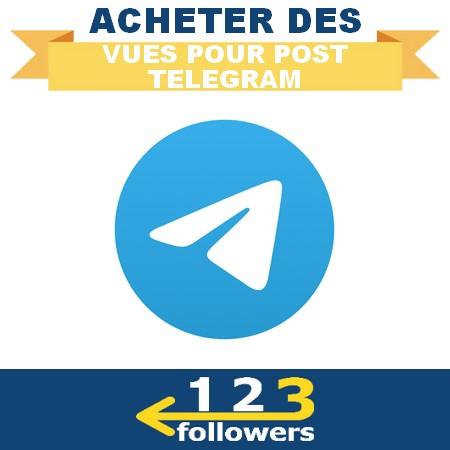 Acheter des Vues pour post Telegram
